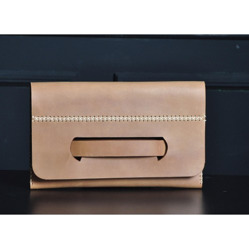 Leather clutch of abundance