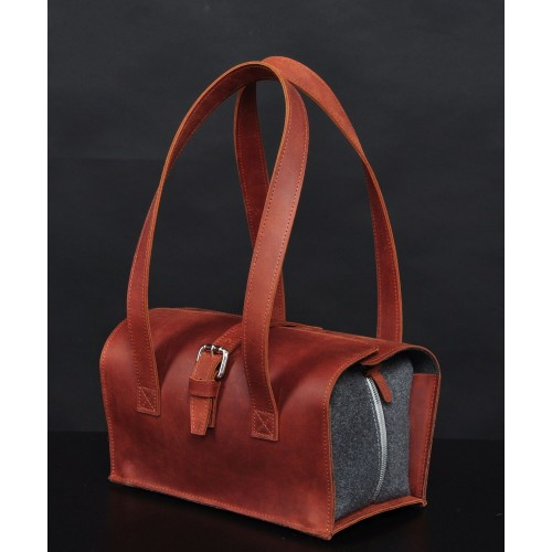 Leather happy bag